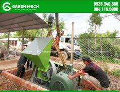 Máy băm gỗ 15 tấn