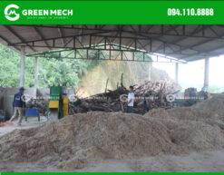 Lắp đặt máy nghiền gỗ thành mùn cưa 2 Tấn GM-200SM