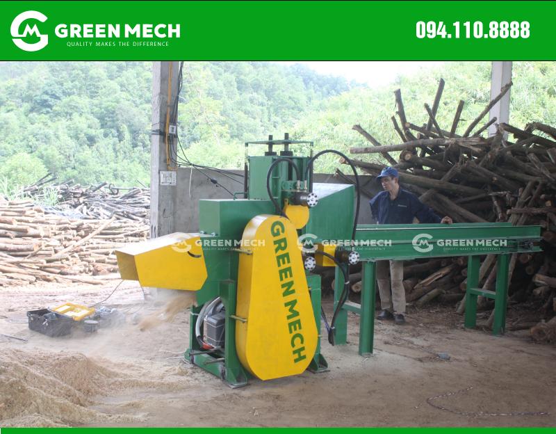 Lắp đặt máy nghiền mùn cưa GM-200SM tại Quảng Ninh