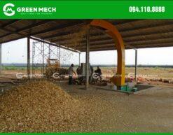 Máy băm dăm gỗ dạng phun GREENMECH