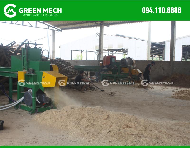Khách hàng Quảng Ninh đầu tư 2 máy nghiền gỗ thành mùn cưa GM-200SM