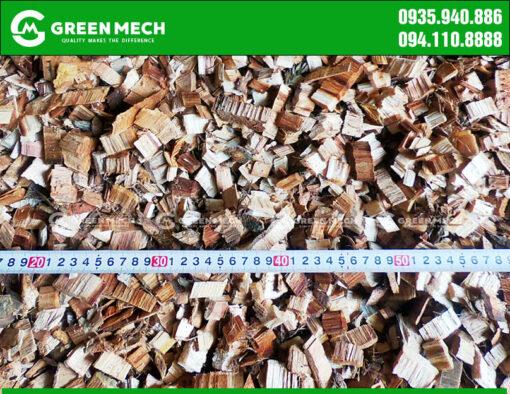 Dăm gỗ thành phẩm của máy băm dăm GREEN MECH