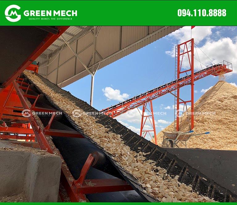 Nhà máy băm dăm gỗ xuất khẩu GREEN MECH