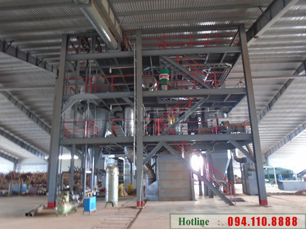 Nhà máy sản xuất viên nén gỗ mùn cưa wood pellet